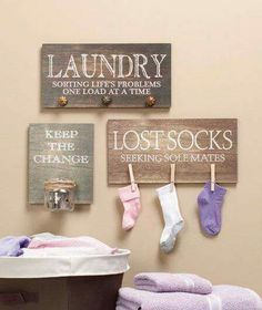 Cute Laundry room organization doubling as decor