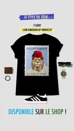 "T-shirt 100% coton - ""Lion kingdom of Morocco"" lepetitdromadaire.com Lion Kingdom, Le Shop, T Shirt, Teddy Bear, Morocco, Supreme T Shirt, Tee, T Shirts, Teddy Bears"