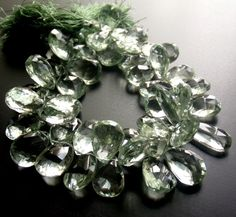 glass pear shaped briolettes #glass #briolette #bead #jewelry