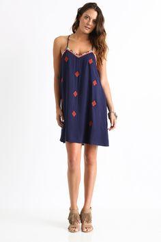Sady & Lu Embroidered Slip Dress | South Moon Under