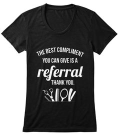 Limited Edition: Hairstylist! Solid Black Women's T-Shirt Front