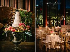Romantic Indoor Garden // elegant wedding reception with flowers in shades of pink and white