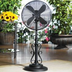 Deco Breeze Ebony Adjustable Outdoor Pedestal Fan - available at Ultimate Patio. Banish the heat outdoors with this. Outdoor Standing Fans, Outdoor Fans, Outdoor Spaces, Indoor Outdoor, Fresco, Outside Fans, Simple Pool, Pedestal Fan, Weathered Paint