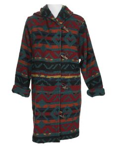 Aztec prints are in this fall but with much more of a western twist. This Aztec Duffle Coat would be a great way to work the trend!