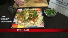 Lemon chicken & rice - garlic, thyme, vinegar, soy sauce, honey, parsley