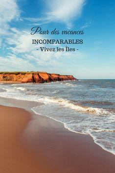 Pour des vacances incomparables, visitez les Îles! Quebec, Places To Visit, Island, Beach, Water, Outdoor, Dolphins, Cute Photos, Bonito