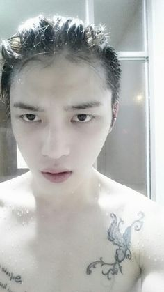 Kim Jaejoong | Twitter: Current weight + Shower selca 140223