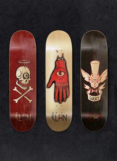 Elan Skateboards by Supervixen , via Behance