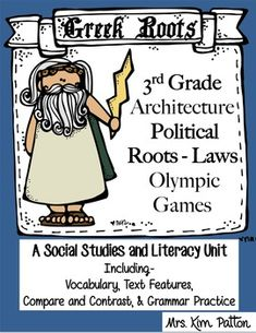 Greek Roots-Architecture, Political Roots & Olympic Games This unit is designed for the pages to use alone or in an Interactive Notebook! The unit follows 3rd grade- Georgia SS Standards but can be used for most states.  The students will describe Identify the influence of Greek architecture (columns on the Parthenon, U. S. Supreme Court building), law, and the Olympic Games on the present.