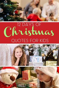 Have fun making a new holiday tradition with your family with these 12 days of Christmas quotes for kids. Christmas Quotes For Kids, Merry Christmas Quotes, Holiday Crafts For Kids, 12 Days Of Christmas, Holiday Activities, Kids Christmas, Holiday Decor, Inspirational Backgrounds, Inspirational Quotes For Kids