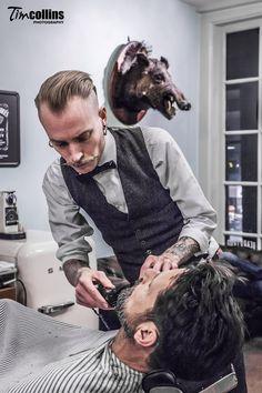 A true barboar shop...I'm in...Amsterdam Barber Shop - Haarbarbaar - Tim Collins Photography✂✂✂✂✂