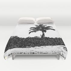 Palm Tree Black and White, Duvet Cover, Modern Bedding,Bedroom Decor,Home Accessories,Bedroom Art,Interior Design,Beach Decor, Island Living by B2Bdesigns on Etsy https://www.etsy.com/listing/290527357/palm-tree-black-and-white-duvet-cover