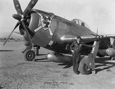 "66th Fighter Squadron Joe Angelone's P-47 #71 ""Toots"" at Grosseto Italy, 1944"