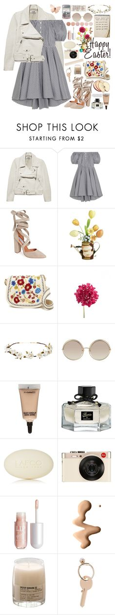"""""""2556. Happy Easter ♥ ♥ ♥"""" by chocolatepumma ❤ liked on Polyvore featuring Retrò, Acne Studios, Caroline Constas, Steve Madden, Pier 1 Imports, Cult Gaia, Marc Jacobs, MAC Cosmetics, Gucci and LAFCO"""