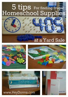 5 Tips For Finding Frugal Homeschool Supplies at a Yard Sale