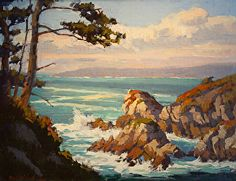 """Granite Rock Point - Pt. Lobos"" by Mark Farina 14"" x 18"" oil  This painting was reworked on the left side 5/2/15. Much better now."