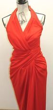 Vintage Tadashi Red Women Dress Sexy Halter USA Holiday Formal Cocktail Large