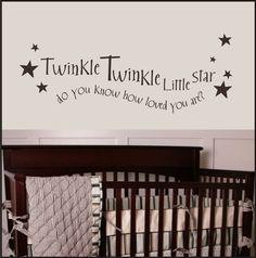 Twinkle Twinkle Little Star Vinyl Decal - Baby - Nursery - $28
