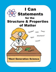 "FREE sample - Science ""I Can"" Statements from my Structure & Properties of Matter Interactive Notebook Unit, aligned with the #NextGenerationScienceStandards."