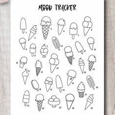 Discover recipes, home ideas, style inspiration and other ideas to try. Bullet Journal Tracker, Bullet Journal Inserts, Bullet Journal Notebook, Bullet Journal Themes, Bullet Journal Spread, Bullet Journal Inspo, Bullet Journal Layout, Bullet Journal Decoration, Ice Cream Template