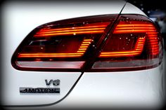 Designer tail light cluster on the #Volkswagen CC #RLine #V6 #4Motion | #JIMS2013 #VWatJIMS2013