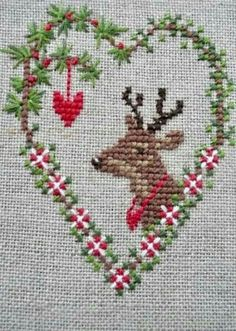 Excellent Cost-Free Cross Stitch projects Popular Due to the fact I've been corner sewing since I'm a female I in some cases believe which everybody curren Xmas Cross Stitch, Cross Stitch Christmas Ornaments, Christmas Cross, Counted Cross Stitch Patterns, Cross Stitch Designs, Cross Stitching, Cross Stitch Heart, Christmas Charts, Christmas Deer