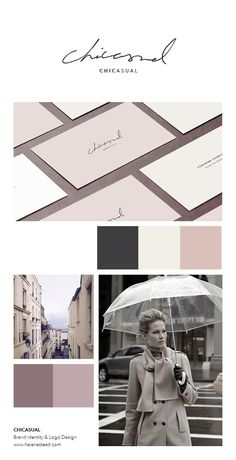 Chicasual is an e-commerce brand for womenswear fashion. The aim was to produce… CORES Identity Design, Visual Identity, Brand Identity, Corporate Identity, Corporate Design, Brochure Design, Logo Branding, Typography Logo, Design Visual