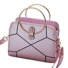 RoseWholesale -  Rosewholesale Ladies Sweet Stitching Circle Handbag -  AdoreWe.com e60baa36dc