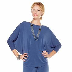 MarlaWynne Luxe Crepe Poncho - www.hsn.com