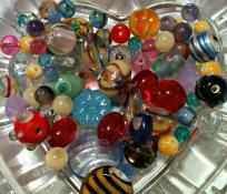 Mixed Glass and Lampwork Beads #2 FREE SHIP