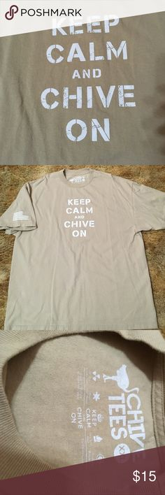"Chive ""Support the Troops"" T-Shirt Keep calm and chive in tee chive Shirts Tees - Short Sleeve"