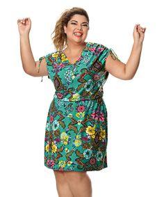 Fabiana Karla by Hiroshima - Vestido em poliflex com elastano Curvy Girl Fashion, Xl Fashion, Plus Size Fashion, Womens Fashion, Vestidos Plus Size, Plus Size Dresses, Vestidos Chiffon, Island Outfit, Short Gowns