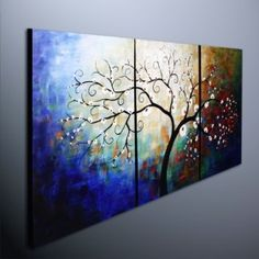 Abstract Oil Painting, more trees