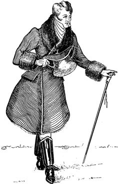 Beau Brummel established the mode of men wearing understated, but fitted, beautifully cut clothes including dark suits and full length trousers, adorned with an elaborately-knotted cravat. Source: The October Century Magazine LXXIV No. 6 (London, England: MacMillan and Co. LTD, 1907)