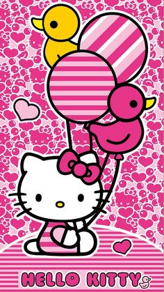Image in 😻Love Hello Kitty😻 collection by Cristela Hello Kitty Art, Hello Kitty My Melody, Hello Kitty Themes, Hello Kitty Birthday, Hello Kitty Iphone Wallpaper, Hello Kitty Backgrounds, Pink Wallpaper Barbie, Kawaii Wallpaper, Bookmarks