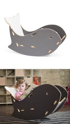 Adorable! Whale Rocking Chair