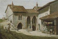 Antichi caseggiati con figure by Odoardo Lalli