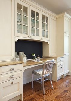 kitchen desk cabinets - Google Search