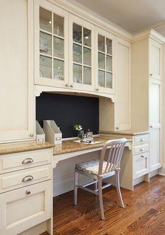 kitchen desk cabinets - Google Search