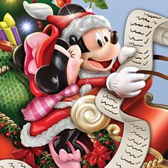 Naughty or Nice ? Christmas Cartoon Movies, Disney Christmas Songs, Mickey Mouse Christmas, Christmas Cartoons, Christmas Time, Mickey And Minnie Kissing, Mickey And Friends, Mickey Minnie Mouse, Disney Mickey