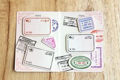 MochiThings.com: Passport Sticky Note Set