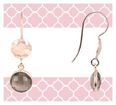 Rosegold summer look earrings by latelita on Polyvore featuring polyvore, fashion and style