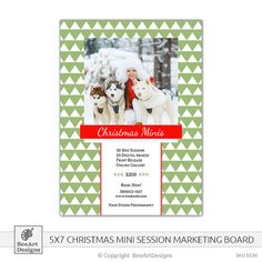 INSTANT DOWNLOAD  Christmas Minis Marketing Board by BeeArtDesigns