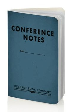 "Perfect for Conference note taking—a small, slim 3 1/2"" x 5 1/2"" journal, with a table of contents and space on each page to record the speaker, topic, and date. Also comes in large size and in green. #ldsconf #conference"