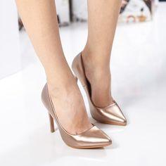 Pantofi dama Pricce bronz cu toc