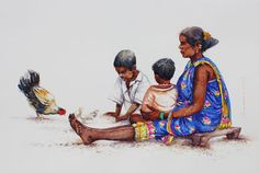 KYNKYNY is an online gallery that showcases a curated selection of original artworks by emerging and established Indian artists at affordable prices. Human Figure Sketches, Figure Sketching, Figure Drawing, Dancing Drawings, Art Drawings, Drawing Art, Watercolor Artwork, Watercolour, Watercolor Portraits