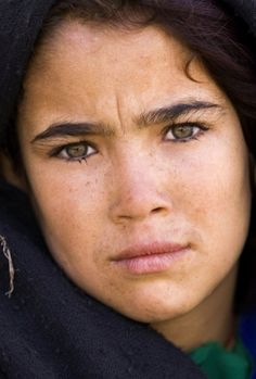 A young girl from Delaram, Afghanistan (Photograph: Marko Djuric, Reuters)