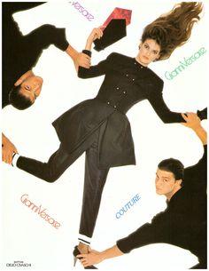 1988 Linda Evangelista Gianni Versace Print Ad Vintage Advertisement VTG 80s | eBay