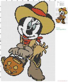 Minnie cowgirl patron punto de cruz (click to view)