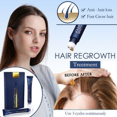 Hair Growth Essence Triple Roller Massager Anti hair loss Treatment Promote hair growth tools Hair Care Products 30ml×2